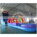 2017 Aier Supper fun summer water slide with pool/summer inflatable water slide