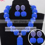 Royal blue jewelry set garments accessories jewelry handmade coral bead jewelry set