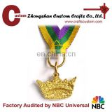 Souvenir custom gold Medal with ribbon for sale