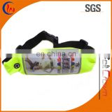 Waterproof safety customized touch screen running waist belt