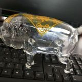 High Quality Pig Shape Liquor Bottle Glass Pig Wine bottles Unique Shaped Design Pig Wine Bottle