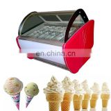 The Hottest Sale Mini Ice Cream Display Freezer with standard CE/ ice cream display showcase Cold Food Refrigerated deep freezer