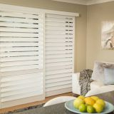 Sliding Wooden Shutter Louver Window Wood Shutter Components