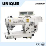 UN2284DD High speed direct drive zigzag machine with automatic thread trimmer zig zag sewing machine price good                                                                         Quality Choice