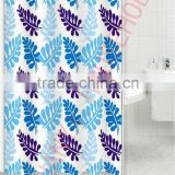 toile fabric folding shower curtain led shower curtain