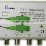 45~1002MHz FTTH Four Ways CATV Fiber Optic Receiver build in CWDM/Fiber Optic Node/Optic ONU