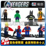 Mini Qute JR 8pcs/set Marvel Avenger Spiderman Batman super hero boys building block action figures educational toy NO.833