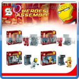 Mini Qute Senye 4pcs/set Marvel Avenger super hero superman building block action figures educational toy NO.SY 213
