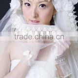 Asian style weddiing veil with hand-made flowers