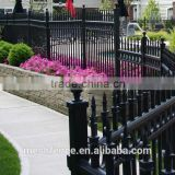 alibaba expressBlack coated welded metal fencing panels /Black powder bending garden fencing