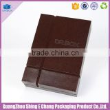 Fancy PU leather wine paper box for wine packaging box