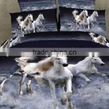 100% cotton 3D horse printed bed cover set