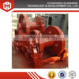 Marine double drum hydraulic winches for boat, vessel, ship