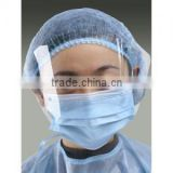 Disposable 3ply medical face shield visor mask/ face mask with shiled                                                                         Quality Choice