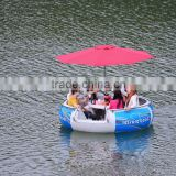 Leisure life raft with electric motor
