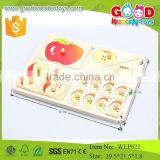 new products in china market apple fraction peg puzzle early learning wood puzzle