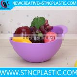 Creative Hollow Design Dish Bowl for Washing Rice Cereal Fruit Home Kitchen Use