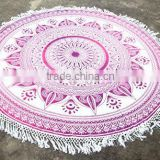 Cotton Round Mandala Hippie Beach Throw Roundie Yoga Mat Designer Decorative Wall Hanging Indian Table Cover Towel