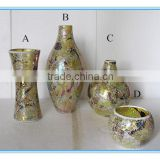 Wholesale mosaic flower different types glass vase for home decoration                                                                                                         Supplier's Choice