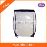 Cheap plastic drawstring bags wholesale/clear drawstring backpack