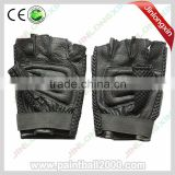 Leather Tactical Half Finger Paintball Gloves