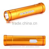 Multifunction professional bike flashlight torch bicycle head light with bluetooth audio