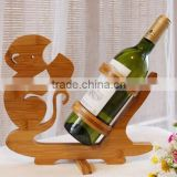 2014 fancy handmade bamboo animal shaped wine bottle rack & holder