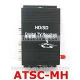 High speed car satellite receiver car TV tuner ATSC for North Amermica