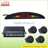 Car Reversing Detector with Four Waterproof Connector Sensor and 12V DC Rated Voltage Parking Sensor