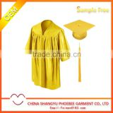 Bright gold graduation child gown