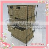 Safe Material Seagrass Baskets Ninght Stand