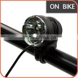 NicoNature 2200lm rechargeable USB LED bicycle headlight Super Bright Mountain LED mini front light with 3*CREE XML U2