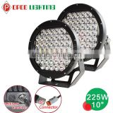 10 inch 225w Led Round Driving light spot/flood cover, offroad 4x4 ATV Truck 225w led driving light                                                                         Quality Choice