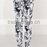 Autumn Casual palm pant for women, palm pattern print woven long joggers pants - SYK15297