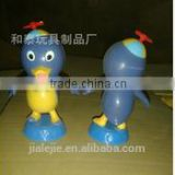 Penguin doll head with a bamboo dragonfly Cartoon Desktop ornaments Cartoon Penguin toy doll inventory