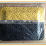 Black and Yellow ESD Cleanroom Anti-Fatigue Mat