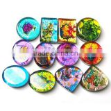 Dichroic glass wholesale coloured glass gemstone