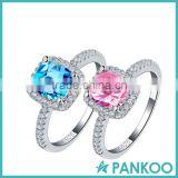 New arrival 925 cz ring sapphire pink cz diamond for women wedding engagement wholesale jewelry