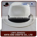 lifeguard black white beach fedora hat