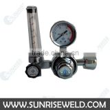 SUNRISE BRAND Silver color Argon regulator Pressure Gas Flow meter