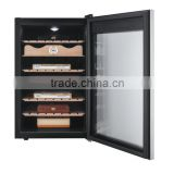 Modern Electric Cigar Humidor with LED Display and Touch Screen Control