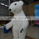 Christmas Decoration Inflatable Polar Bear Costume White Bear Costume