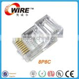 Owire cat6 rj45 jack module Solid 24AWG CAT6 UTP Crystal head Gray Network Ethernet Wire with plug