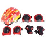 Polyester,Breathable wesh cloth + PE Material Skating Cycling Protector Pads Gear for Knee Elbow Wrist and helmet