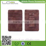 2016 factory hot selling new style leather money clip with card holder