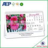 folding style with pen card board printed high quality daily desk calendar printing manufacturer price