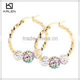 dubai duplicate 24k gold plated costume jewelry earrings