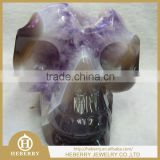 "4.5"" 0.94KG TOP ONE HOT SELL natural carved agate geode stone skull for Healing, Reiki"
