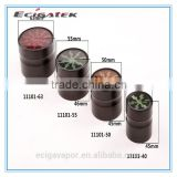 Wholesale custom 4 layer aluminum alloy lightning type hole smoke filter, herb grinder by eciga