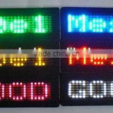 alibaba express china innovative product textile electronic plastic magnetic rechargable led name tag